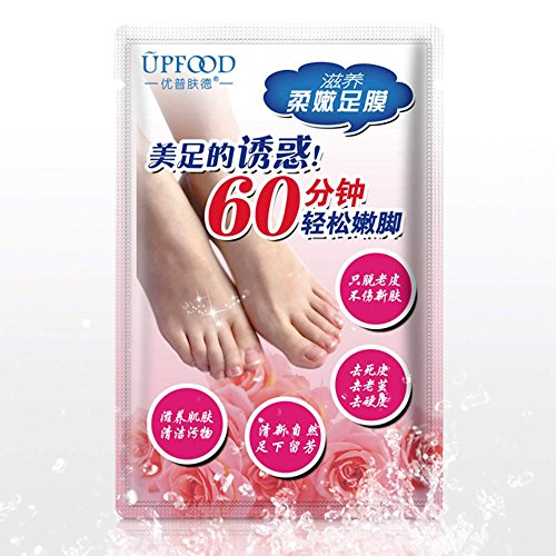 Kizaen 10 Packs Exfoliating Foot Peel Mask - Exfoliant for Soft Feet in 1-2 Weeks, Peeling Off Calluses & Dead Skin, For Men & Women (1 Pairs Per Pack)