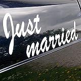 Magnet'Just married', weiß