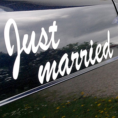 Magnet'Just married', weiß