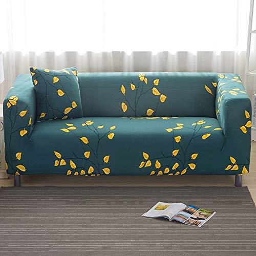 ENCOFT 1/2/3/4 Sitzer Sofabezug Sofaüberwurf Stretch weich Elastisch Farbecht Elastischer Sofa-Überwürfe Antirutsch Stretch Sofaüberzug (Type-4, 2 sitzer)
