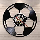 Balón de fútbol Arte de la Pared Decoración del hogar Reloj de...
