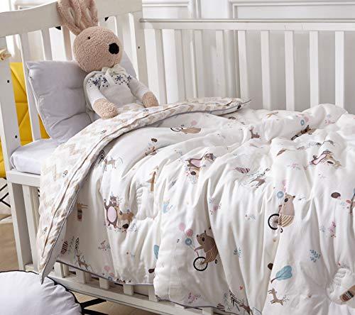 Becozy Baby Knuffeldeken, Swaddle deken, extra zacht, 100% katoen, afmeting: 120 x 120 cm, 4-laags, ideaal als babydeken, deken voor kinderwagen, wieg en babybedje, verpleging