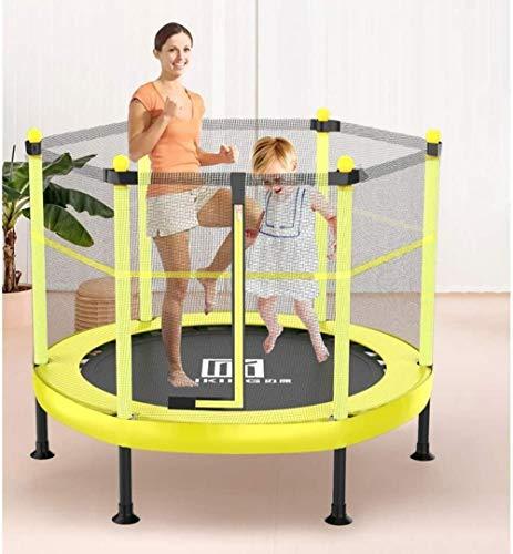 Pulley -O Cama elástica para niños con valla de seguridad para uso en interiores o al aire libre, para fitness, para niños o padres