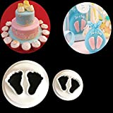 Ausstecher für Kekse, Fondant, Gebäck etc., Motiv: Babyfüße