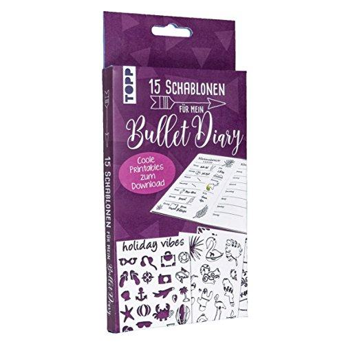 Bullet Journal Schablonen: 15 Schablonen mit 5 Bullet Journal-Seiten zum Download