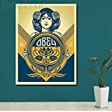 KWzEQ Imprimir en Lienzo Obedece el Arte de la Paz, pósters y Decoraciones para el hogar45x60cmPintura sin Marco