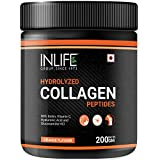 INLIFE Hydrolyzed Collagen Powder Supplement Peptides Type 1 and 3 with Biotin Vitamin