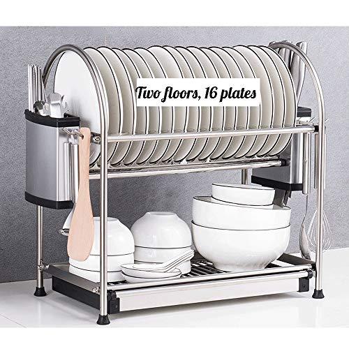 Haak Stand Vloer Keuken Roteerbare Utensil Plank Dubbele kruiden Rack Schoonmaken Handdoek Plank 16