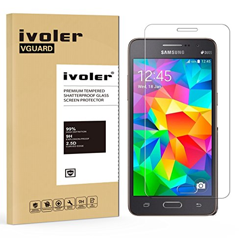 ivoler Protector de Pantalla Compatible con Samsung Galaxy Grand Prime G530, Cristal...