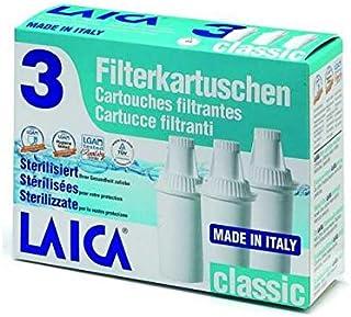 LAICA L600291 Pack de 3 Cartouches filtrantes Classiques, Plastique, Blanc, 3 Unité (Lot de 1)