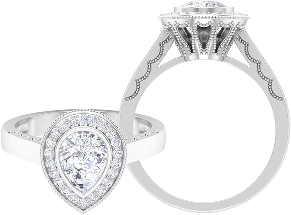 Solitaire Wedding Ring Teardrop Engagement 6X8 D-VSSI OFFicial site MM Tampa Mall