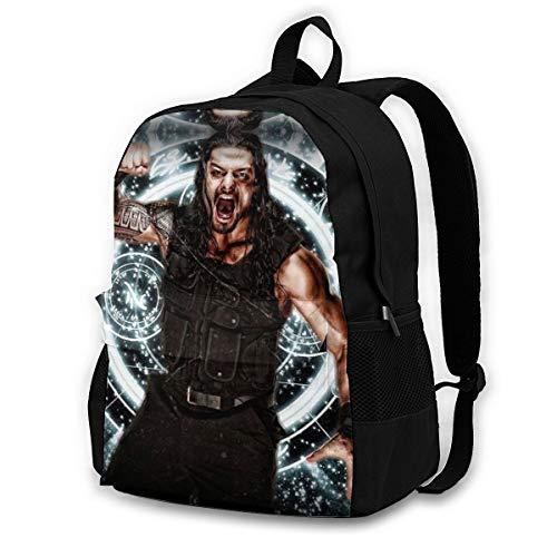 Childrens School Bag Roman-Reigns Bookbag Outdoors Rucksack Classic Basic Backpack for Men/Women/Boys Black 145526712