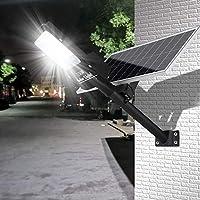 屋外LEDソーラーライト、60W〜200Wリモコン付きLED-庭、庭、樋、通路(コールドホワイト)用のIp65防水セキュリティエリア常夜灯、60W
