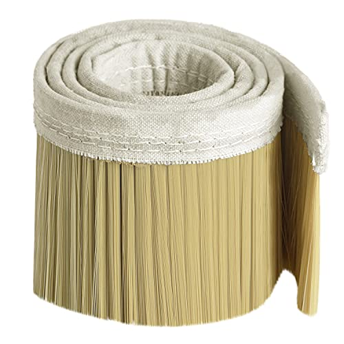 100mm Dust Shoe Brush, HommyPrefer 1M Length Nylon Vacuum Brush Cleaning Tool for Vacuum Cleaner, Engraving Machine CNC Vacuum Brush for CNC Router Spindle Motor (Golden)