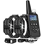 FunniPets-Dog-Training-Collar-2600ft-Range-Dog-Shock-Collar-with-Remote-Waterproof-Electronic-Dog-Collar-for-Medium-and-Large-Dogs-with-4-Training-Modes-Light-Static-Shock-Vibration-Beep