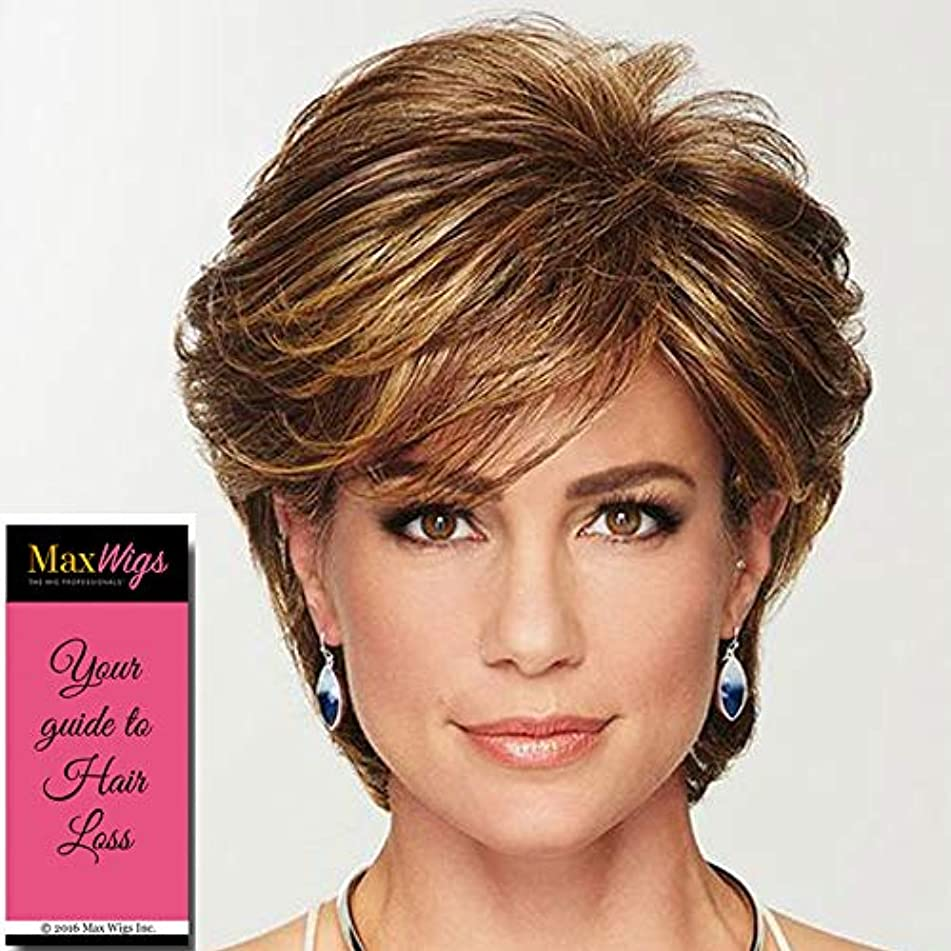 Gratitude Wig Color Light Grey - Gabor Wigs Short Layered Cut Heat Friendly Synthetic Volume at Crown Side Bang Comfort Cap Bundle MaxWigs Hairloss Booklet