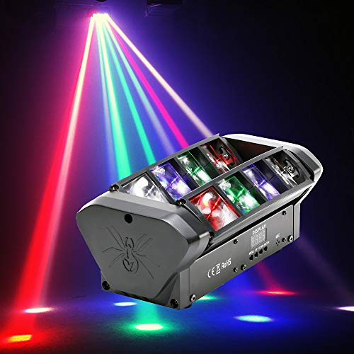 HSL Moving Head Stage Light,Moving Head spot Light,Spider Moving Head 8 Beam Light RGBW DMX Sound Activated for Party Pub Disco Show Wedding Event Stage Lighting DJ Equipment (Spider-2Pack)