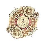 ROKR 立体パズルおもちゃ 木製 使える時計モデル 大人向けパズル モデルキット プレゼント 暇つぶし工作 (掛け時計)