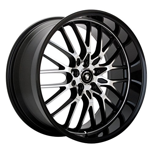 Konig Lace Gloss Black Wheel with Mirror Machined Face