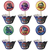24 pcs Dog Patrol Cupcake Toppers and Wrappers - Great Party Cupcake Decorations