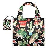 Bolsas reutilizables de la compra – Erizo Llama Cactus Nav