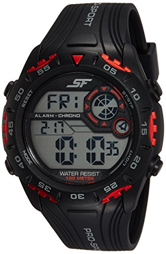 Sonata Digital Negro Dial Reloj para Hombre -NK77068PP01
