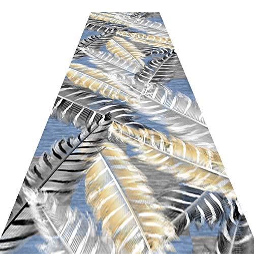 WUZMING-Läufer Teppiche Flur Gang Langer Teppich Sanft Dauerhaft Waschbar Kommerziell Haushalt Bodenmatte Verschiedene Längen (Color : A, Size : 1.2x4m)