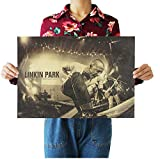 Nostalgisches Poster Rockband Linkin Park Kraftpapier Cafe