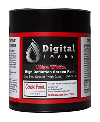 Projector Screen Paint - High Definition   4K - Ultra White - Quart