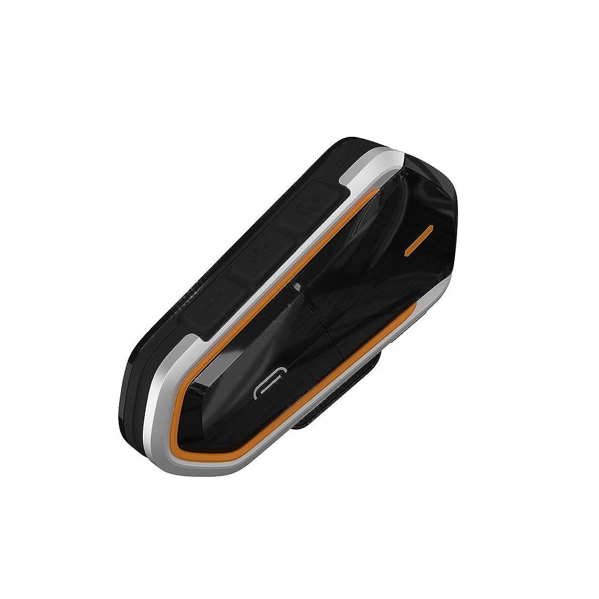 失業慢なヒュームオートバイヘルメットトランシーバーブランドの新しいプライベートモードワイヤレスFmトランシーバー-ブラック&オレンジ