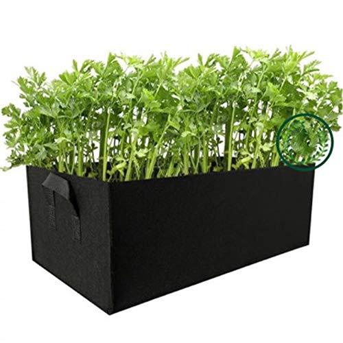 GOHHK 5 Stück Rechteck Grow Bag Pflanzgefäß 55 * 35 * 35cm Gemüsebehälter Pflanze Fbric Töpfe Salat Tomate Kartoffel Blumen Garten Betttaschen Outdoor (L)