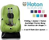 HATON -- FROTTEE Ersatzbezug -- Frühling / Sommer / Herbst -- 3 UND 5 Punkt Gurt System -- Universal Ersatz-Bezug für Autokindersitz Größe 1 z.B. für Maxi-Cosi Priori / SPS / XP, Römer...