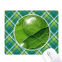 緑の植物の凝縮の新鮮なパターン 緑の格子のピクセルゴムのマウスパッド