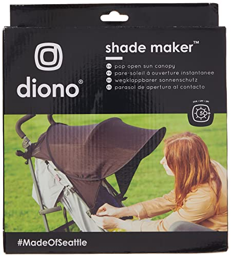 Diono Shade Maker, Universal Stroller Sun Shade Canopy, Black