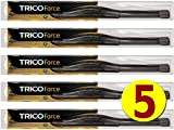 windshield wiper coupler - Factory Master Pack of 5 - Bulk Wiper Blades for Fleets & Service Repair Shops - TRICO Force 25-240 24