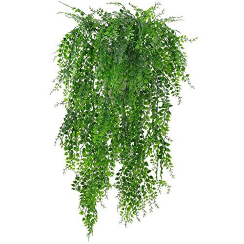 Sharplace Kunstblumen 1 Stück Hängende Rebe Efeu Pflanzen Kunstblumen für Hauswanddekoration Kunstblumen für Partydekoration - Grün, 75 x 13 x 5cm