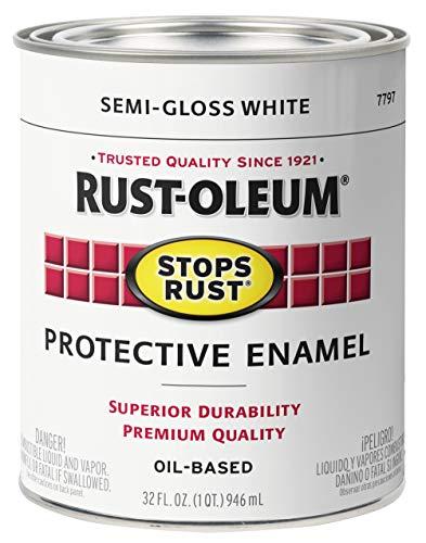 Rust-Oleum 7797502 Stops Rust Brush On Paint, 32 Fl Oz (Pack of 1), Semi-Gloss...