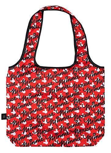 Baagl Faltbare Einkaufstasche, wiederverwendbar, Einkaufstasche Mickey Maus (Minnie)