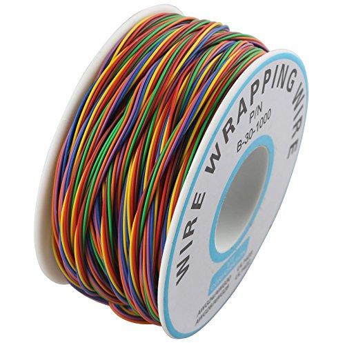 P/N B-30–1000PCB Jumper Draht 8Farben Isolierung Test Geschenkpapier Kabel 15m