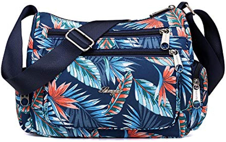 CHAOBAOBAO Frauen Frauen Frauen Nylon Wasserdichte Leichte Umhängetasche Mode Im Mittleren Alter Canvas Sport Tasche Messenger Bag B07K2SS6HQ  Vollständige Spezifikationen f2f28c