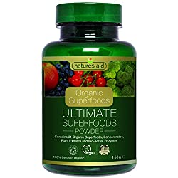 Ultimate Superfoods is 100% Organic 31 of the world's best Organic Superfoods High levels of vitamins, minerals, enzymes and amino acids A convenient way of ensuring your body gets the nutrients it needs Part of Natures Aid Organic Superfood Range
