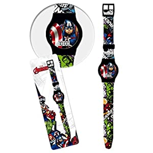 Star Licensing Orologio Avengers Marvel Supereroi da Polso Digitale CONF. CM 23 - 41438NERO