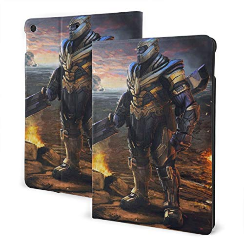 Avenger Thanos Case Fit iPad 7 th 10.2 Inch Case with Auto Sleep/Wake Ultra Slim Lightweight Stand Leather Case