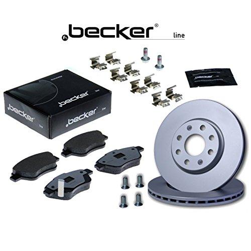 2 Bremsscheiben Belüftet 350 mm + Bremsbeläge f.becker_line 1420-44885 Bremsensatz Bremsanlage