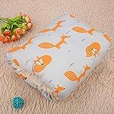 100% tela de algodón, almohada de lactancia para bebés, cojín de(Little Fox)