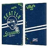 Head Case Designs Licenciado Oficialmente NFL Casco Distressed Look 100th Seattle Seahawks Logo Art ...
