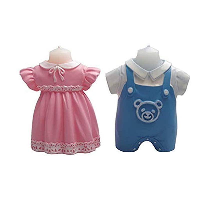 3D Baby Cloth Candle Mold Soap Mold Girl and Boy Cloth Silicone Mold Baby Shower Birthday Cake Decorating Tools