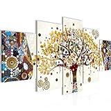 quadro gustav klimt albero della vita 200 x 100 cm - xxl immagini murale stampa su tela decorazione da parete pronte per l'applicazione - 004651a