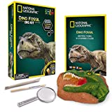 NATIONAL GEOGRAPHIC Dino Fossil Dig Kit – Excavate 3 real...