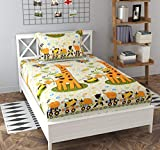 """Package Contents: 1 Bedsheet and 1 Pillow covers  Size: 90 x 60 inch   Pattern: Printed   Design Cartoon Printed Pillow Case Size: 43 X 69 cm or 18"""" X 28"""" approx. Material: Glace cotton Wash Care: Machine wash or hand wash cold, For best use, wash se..."""